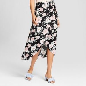 Xhilaration Floral Wrap Maxi Skirt